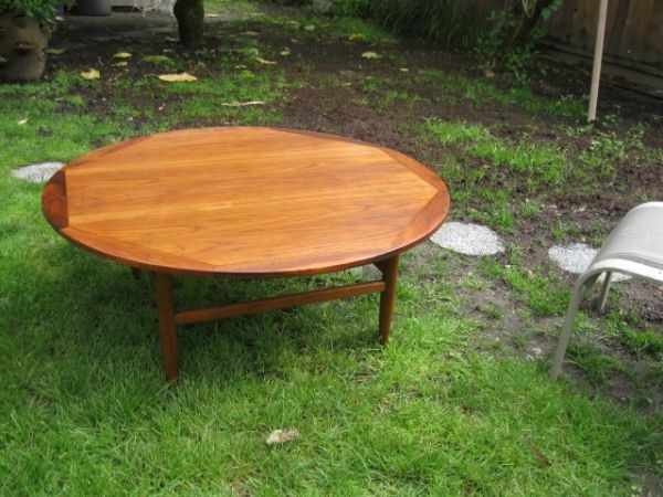 Solid Round Teak Coffee Table Teak Coffee Table Modern Interior Design Midcentury Modern
