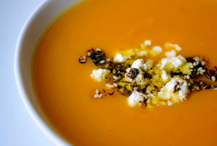 Sweet Potato Soup With Feta and Za'atar Oil Recipe - NYT Cooking