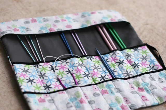 Diy Knitting Needle Case : Best images about needle rolls on pinterest crochet