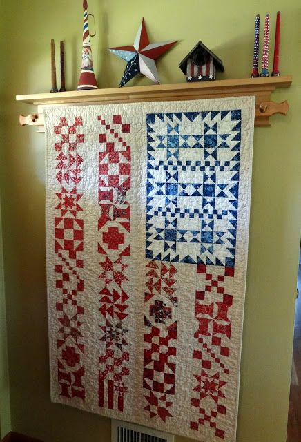 Quilt designed by Yellow Creek Quilt Design, this one made by Candace of Squash House Quilts blog