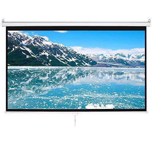 Outdoor Movie Portable Projector Screen 100 inch 16:9 HD Home Cinema Theater New #OutdoorMovieProjectorScreen