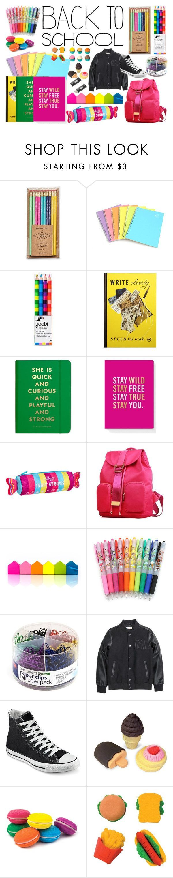 """""""Back to school supplies"""" by zoe-keredy ❤ liked on Polyvore featuring interior, interiors, interior design, home, home decor, interior decorating, FOSSIL, Yoobi, Dot & Bo and Kate Spade"""