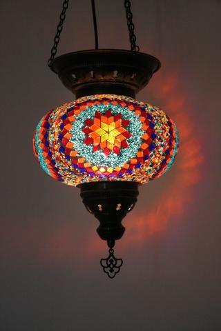turkish glass mosaic hanging lamp