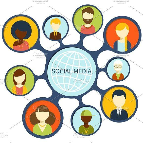 Social Media Network Connection Social Media Network Online Social Networks Social Media