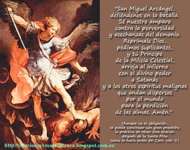 Oracion A San Miguel Arcangel San Miguel Arcángel Oracion De San Miguel San Miguel Arcangel Oracion
