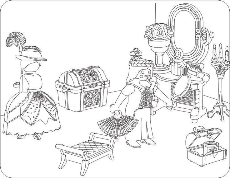 ausmalbilder playmobil prinzessin  malvorlagen für kinder