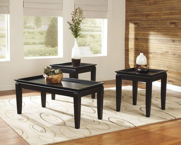 3 Piece Black Coffee Table Sets   Living Room Table Set Check More At Http: Part 90
