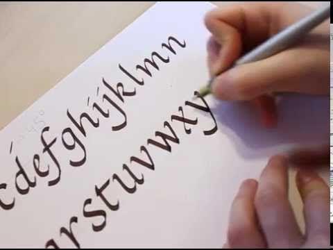 Lloyd Reynolds' Italic Calligraphy & Handwriting: Episode 1 - YouTube