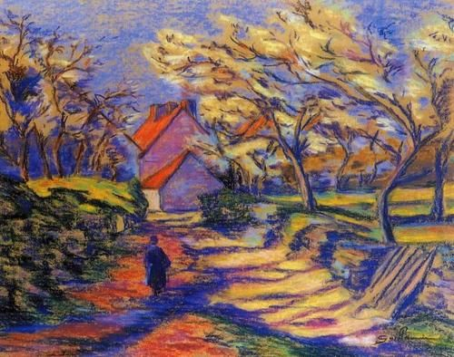 french impressionist paintings | Armand Guillaumin Village ...