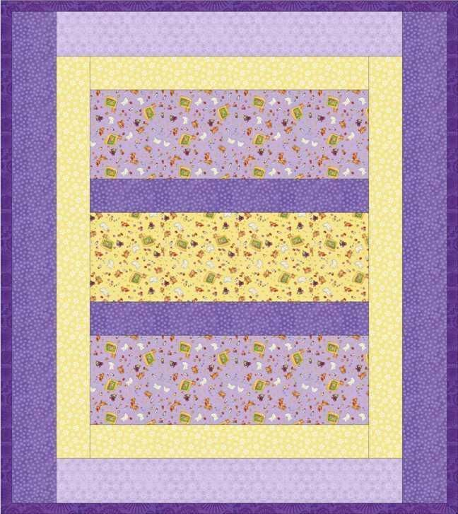 """Reversible """"Quilt-as-You-Go"""" Crib Quilt - free pattern at Craftsy"""