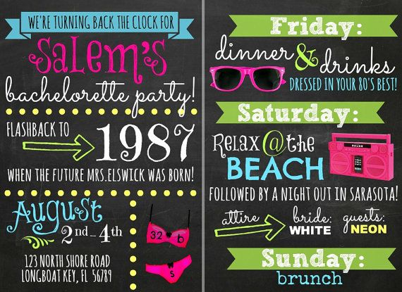 Best 25 80s bachelorette parties ideas – 80s Theme Party Invitations