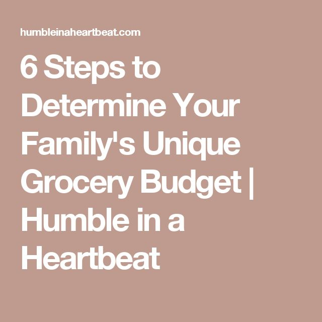 6 Steps to Determine Your Family's Unique Grocery Budget | Humble in a Heartbeat