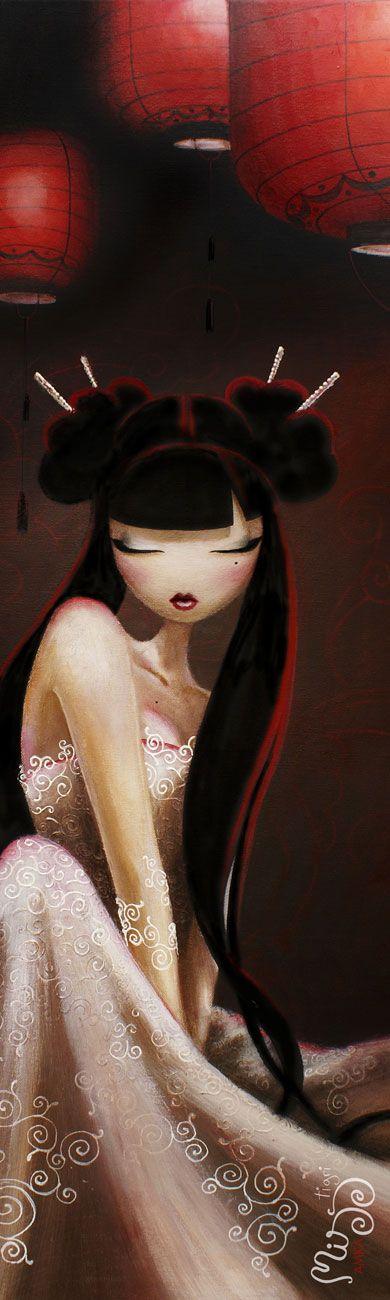 Poster affiche et tableau réalisé par MISSTIGRI - Red Girl