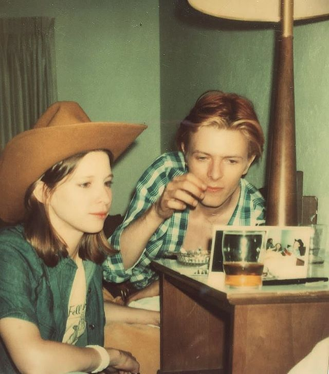 A Polaroid from Candy Clark's Facebook page - David and Candy in her hotel room while filming 'The Man Who Fell To Earth' #DavidBowie #Bowie #tmwfte