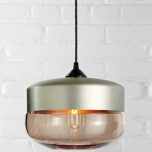 Wide cylinder pendant copper kitchenceiling lightingbeach