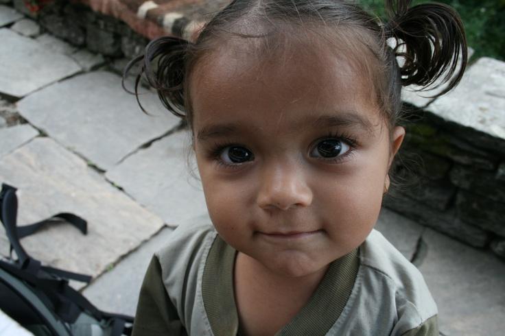 Nepali girl, near Ghorepani, Nepal, 2007 #greatwalker