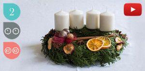 Adventní věnec. Video návod. Advent Wreath.