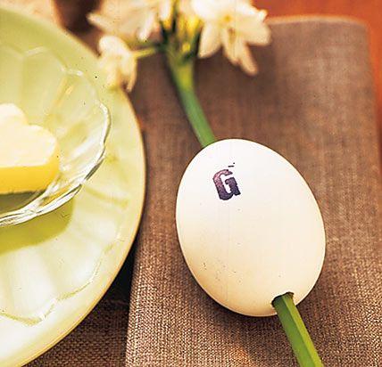 Österliches Tischkärtchen - Stimmungsvolle Oster-Tische 6 - [LIVING AT HOME]