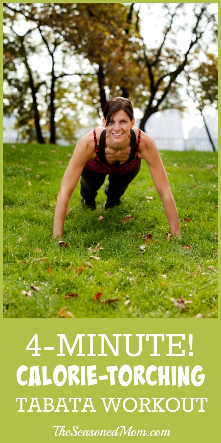4-Minute Calorie-Torching Tabata Workout - The Seasoned Mom