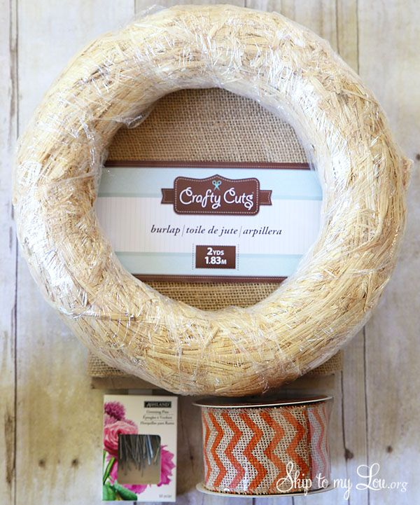Burlap Wreath Tutorial | Skip To My Lou