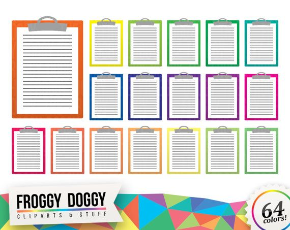 Paper Holder Clipart, Classroom Clipart, Office Clipart, Documents Clipart, Office Supplies, Planner Clipart, Scrapbooking Cliparts