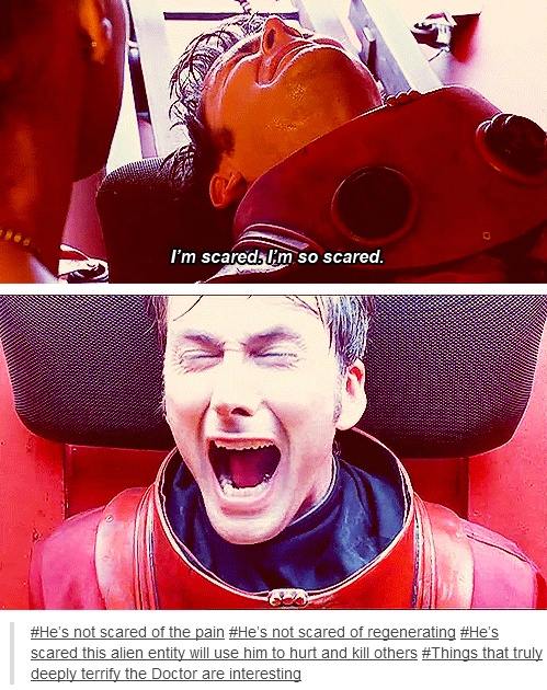 His face breaks me :'( and those words are so true! The Doctor is terrified he'll be used to make bad things happen, it's his worst fear