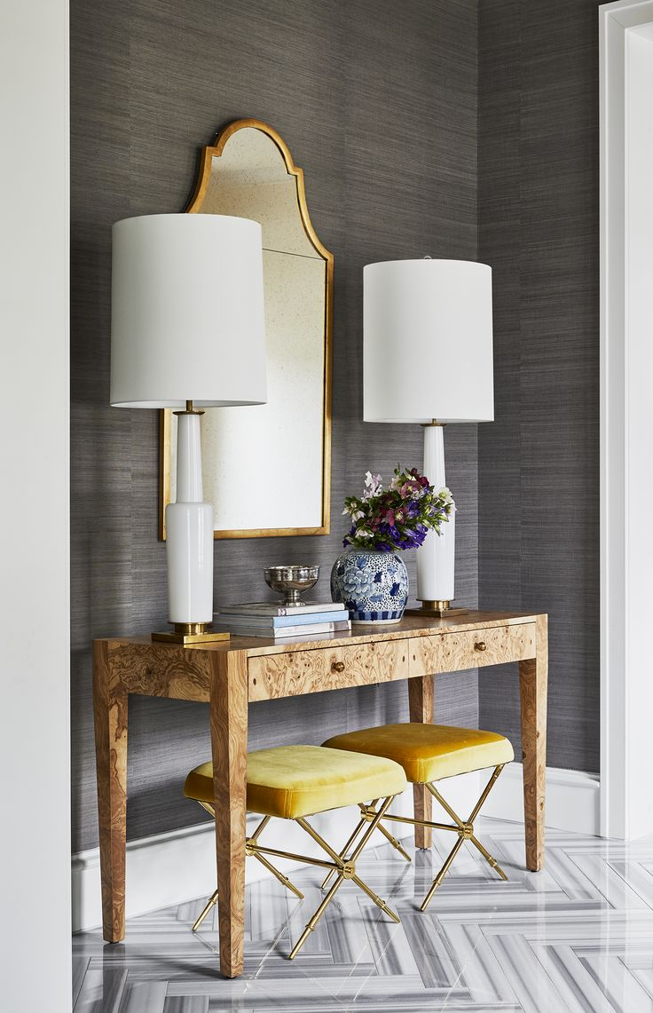 grasscloth console table dining grey