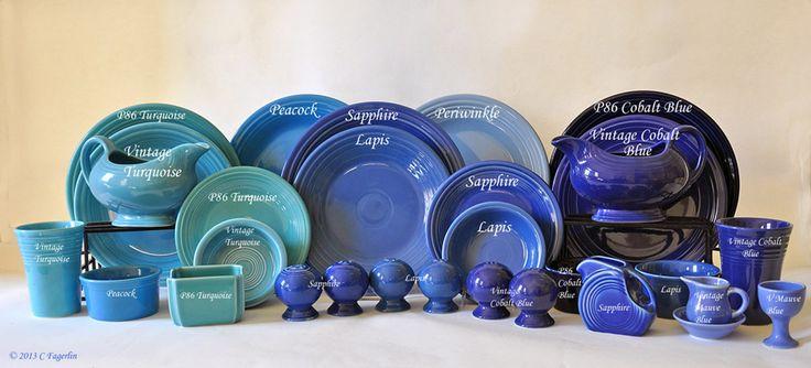 fiestaware blue color comparison - Google Search