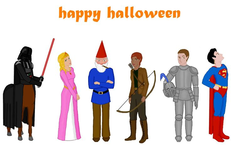 Happy Halloween from the LEP. Foaly, Lili Frond, Root, Holly, Trouble Kelp, Grub Kelp. Artemis Fowl series
