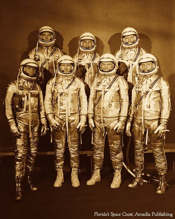 The Original Seven - America's first astronauts, April 9, 1959