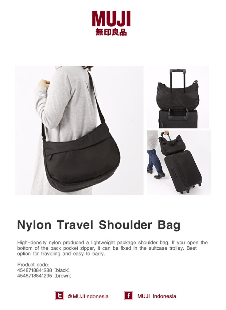 [Nylon Travel Shoulder Bag] Could be used as your daily bag and easy to fixed with your suitcase while traveling