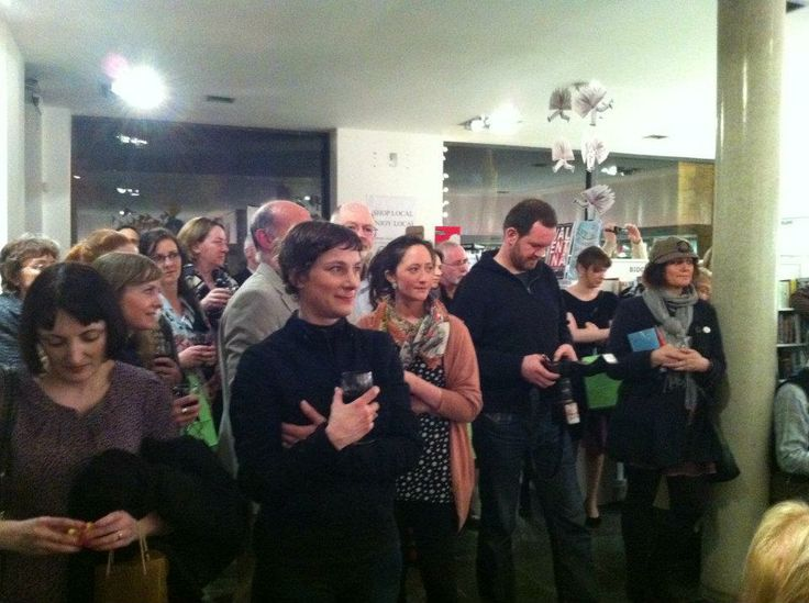 Enchanted audience at the joint launch of Kevin McDermott and Felicity McCall at the Gutter Bookshop in Temple Bar