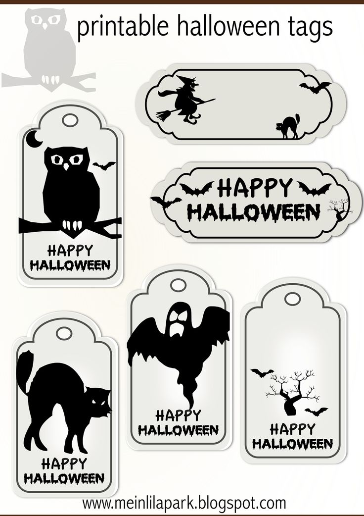 halloween printables labels