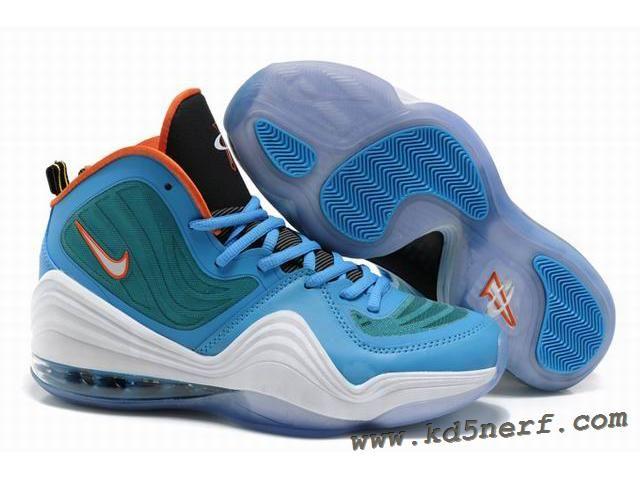 Nike Air Penny 5 Blue Green White - Penny Hardaway Shoes Discoun