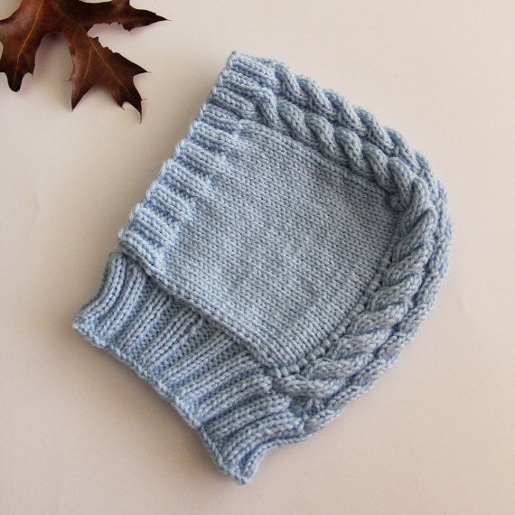 Baby cap hand-knitted baby hat newborn hat by ProjectKnitting
