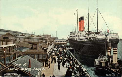 Liverpool Landing Stage, Early 1900s