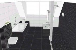 zwart wit badkamer - Google zoeken
