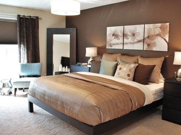Bedrooms: Wall Colors, Bedrooms Colors, Bedrooms Design, Colors Schemes, Chocolates Brown, Master Bedrooms, Bedrooms Ideas, Modern Bedrooms, Accent Wall