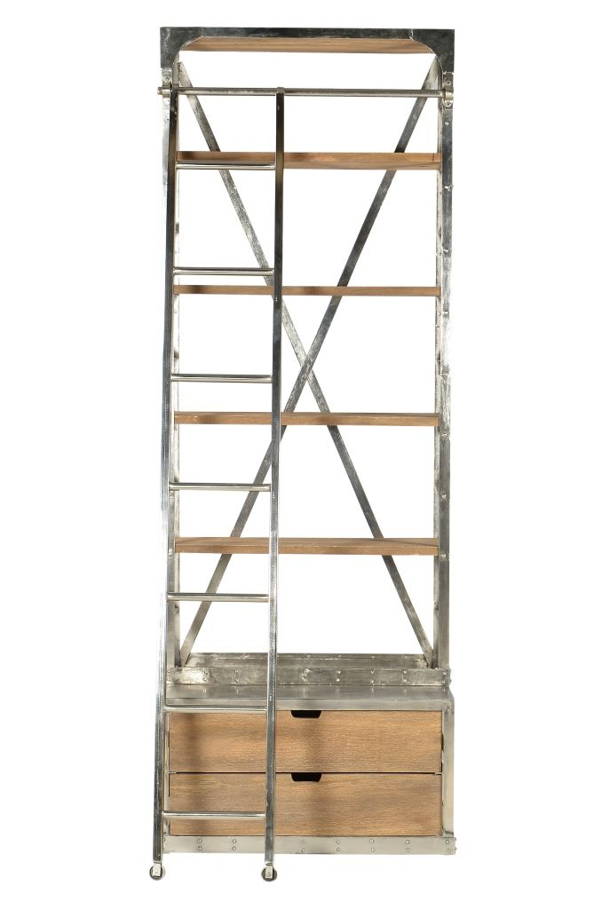 From Our Modern Industrial Collection, This Bookshelf Gets A Modern Twist  With The Added Nickel