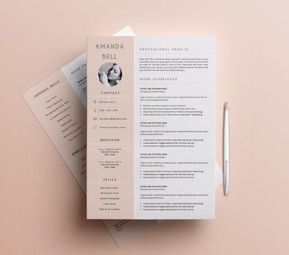 Professional Resume / CV Template-3 by SignatureResume on @creativemarket