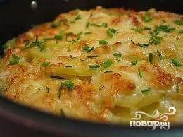 Картошка с сыром в микроволновке - рецепт с фото на Повар.ру