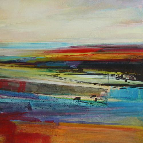 Crimsworth Dean Beck #4 - Acrylic and collage on canvas