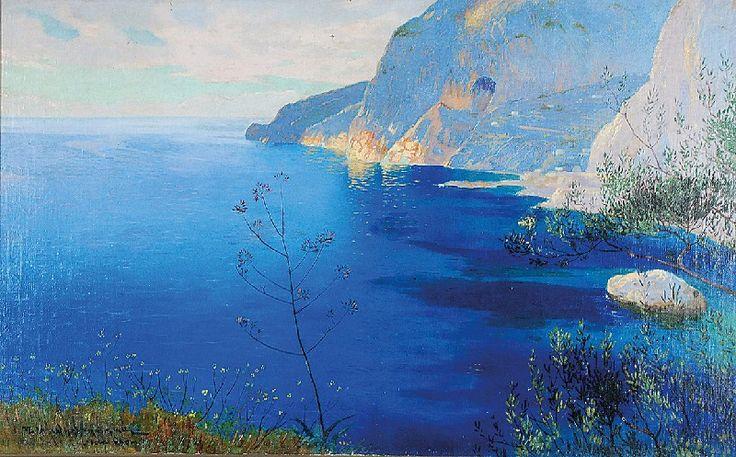 Feliks Michał WYGRZYWALSKI (1875-1944)  Capri olej, płótno; 50 x 80 cm;