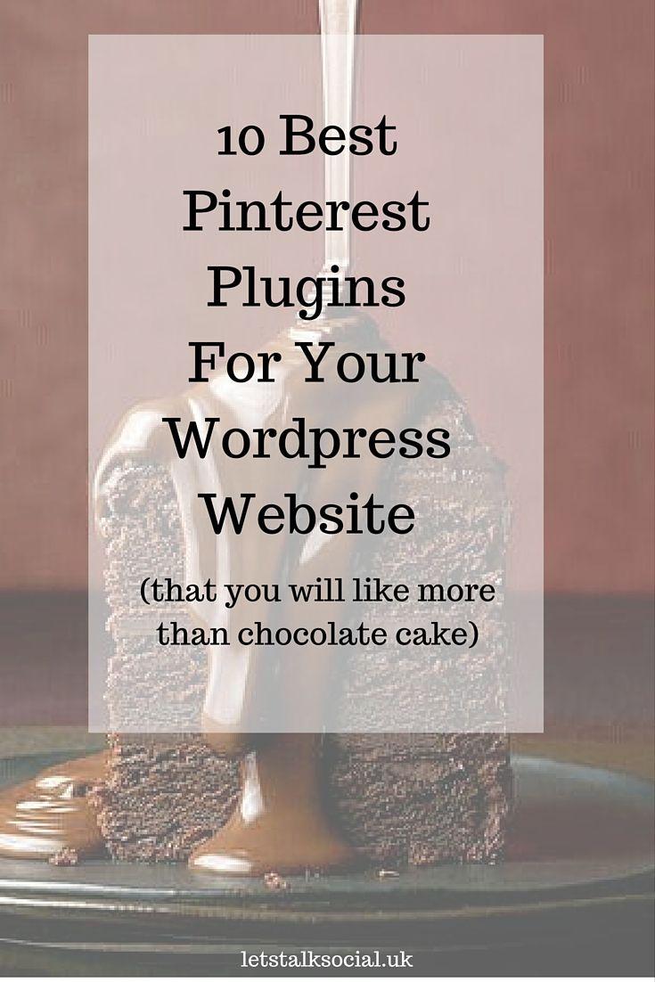 10 Best Pinterest Plugins for Your WordPress Website. Visit: http://www.letstalksocial.uk/10-best-pinterest-plugins-for-your-wordpress-website/