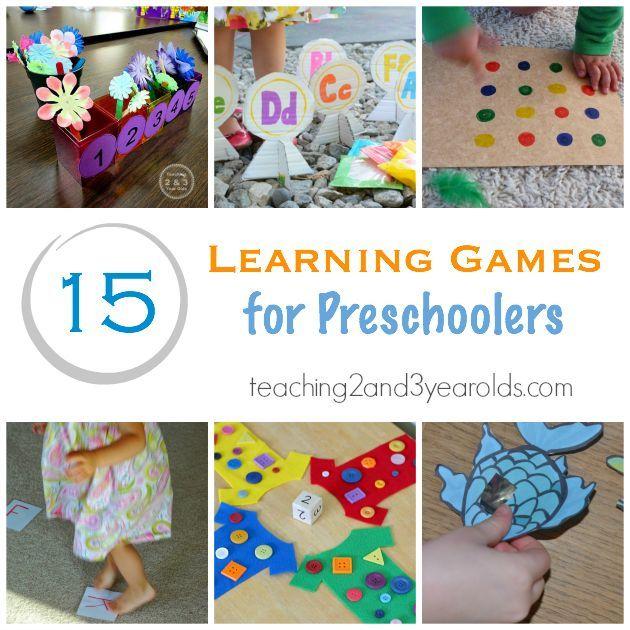 Learning Games for Preschoolers that are educational and fun! Teaching 2 and 3 Year Olds