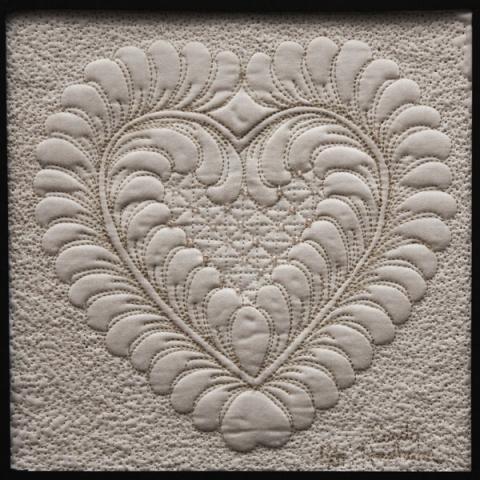 Heart wholecloth design