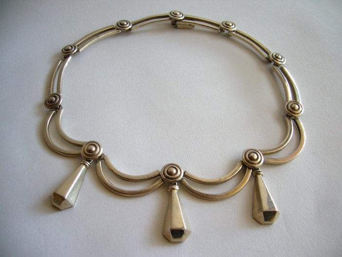 Necklace | Los Castillo, c. 1950s. Sterling Silver.