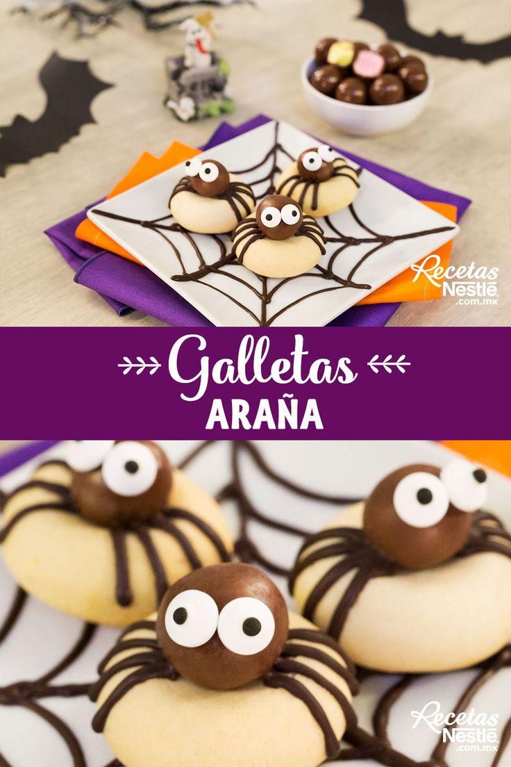 A estas #GALLETAS #ARAÑA ... ¡No les tengas miedo! Mejor prepáralas Ideas Para Fiestas, Yummy Cookies, Hot Chocolate, Pudding, Snacks, Breakfast, Desserts, Food, Unicorn