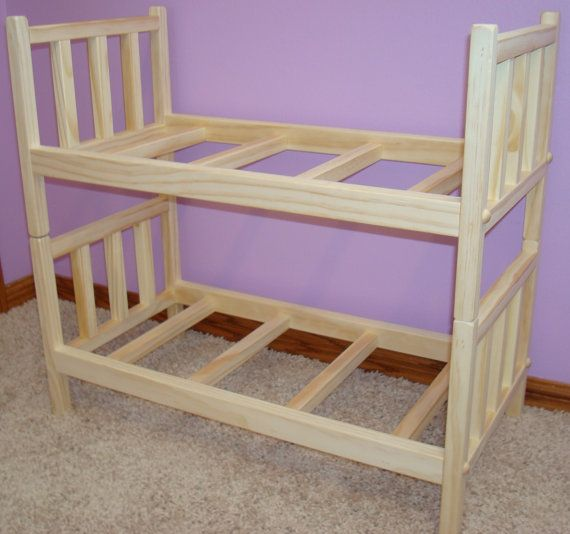 usa handmade solid wood doll bunk bed fits by