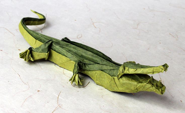 Diagram by Manuel Sirgo. Folded by me. Green unryu backcoated. Size: 35 x 35 cm. Finishing: MC  Added some modifications.